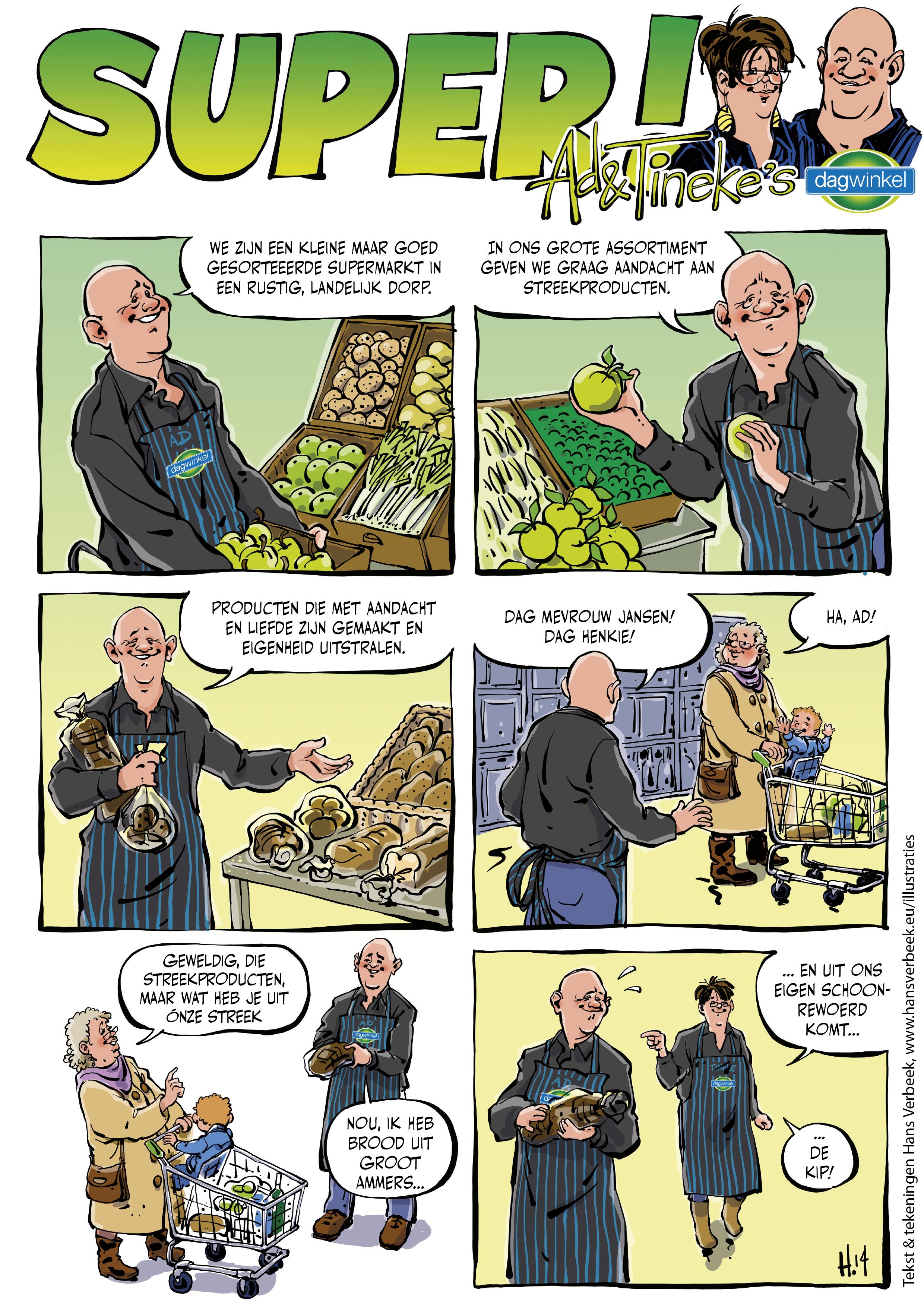 Dagwinkel strip 3-A4